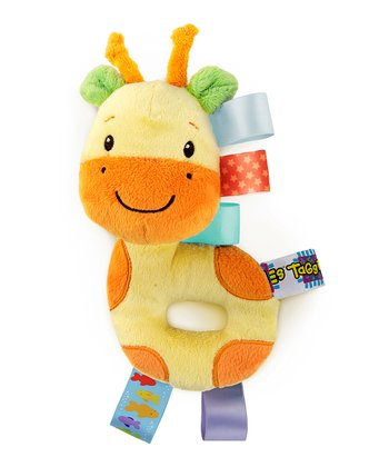 Yellow & Orange Giraffe Cozy Rattle Pal