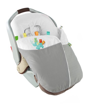 Gray & White Snuggle 'N' Stroll Carrier Blanket