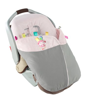 Gray & Light Pink Snuggle & Stroll Carrier Blanket