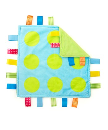 Blue & Green Polka Dot Lovey