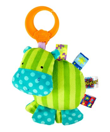 Green Hippo Friend for Me Clip-On Plush Toy
