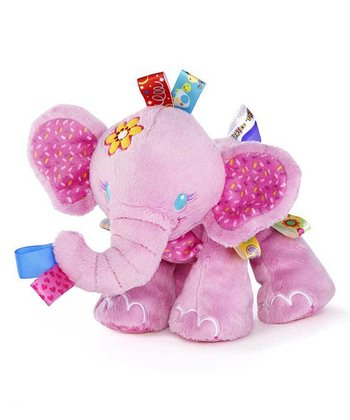 Pink Tag & Play Elephant Pal Plush Toy
