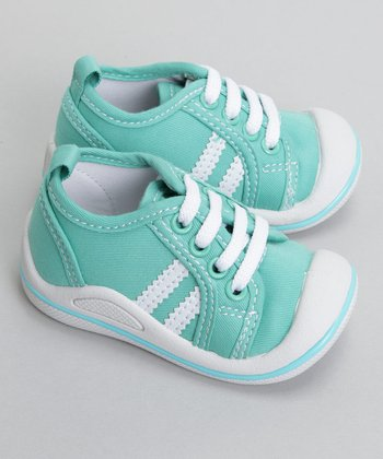 Beibi & WeeSqueak - WeeSqueqak Mint Green Canvas Tennis Shoe