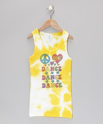 Yellow & White Tie-Dye 'Dance' Tank