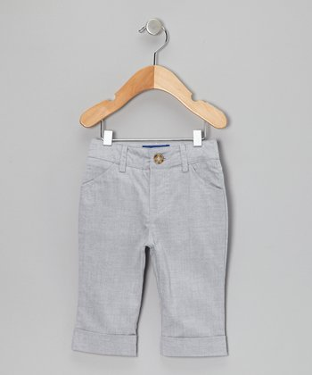 Gray Oxford Pants - Infant