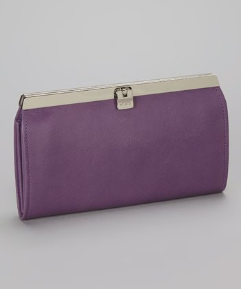 Purple Accordion Wallet