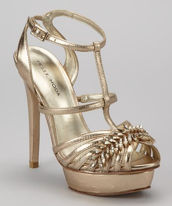 Platinum Embellished Abril Sandal