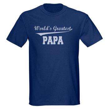 Blue 'World's Greatest Papa' Tee