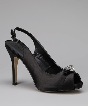 Black Jewel Majus Slingback