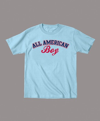 Light Blue 'All American Boy' Tee - Toddler & Boys