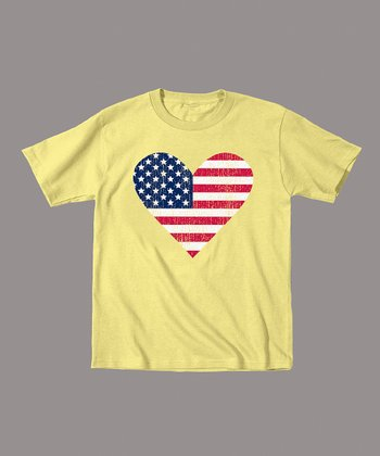 Banana American Flag Heart Tee - Toddler & Kids