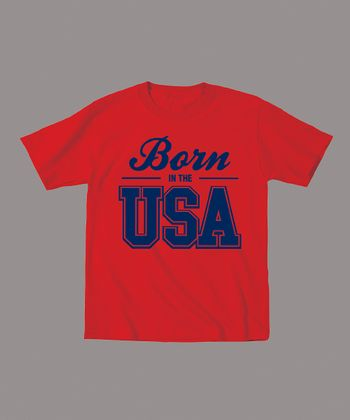 Red 'Born in the USA' Tee - Toddler & Kids