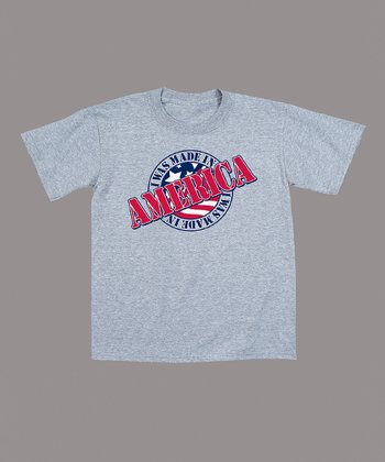 Athletic Heather 'I Was Made in America' Tee - Toddler & Kids