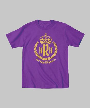 Purple 'Her Royal Highness' Tee - Toddler & Girls