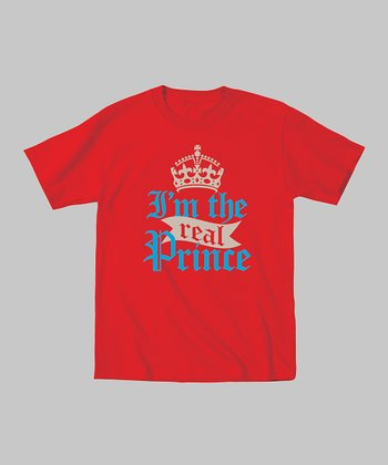 Red 'I'm the Real Prince' Tee - Toddler & Boys