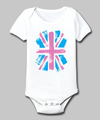 White Union Jack Bodysuit - Infant
