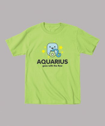 Key Lime 'Aquarius Goes With the Flow' Tee - Toddler & Kids