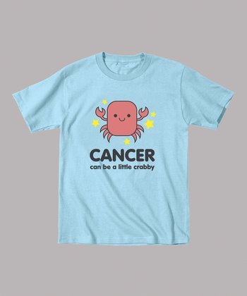 Light Blue 'Cancer Can Be a Little Crabby' Tee - Toddler & Kids