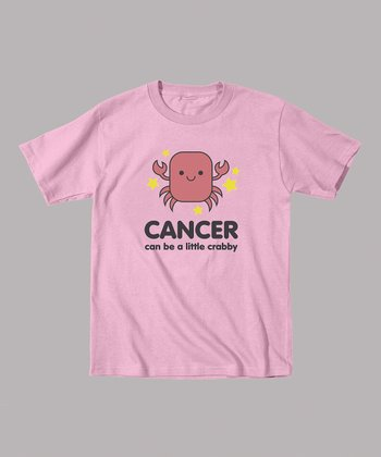 Light Pink 'Cancer Can Be a Little Crabby' Tee - Toddler & Kids