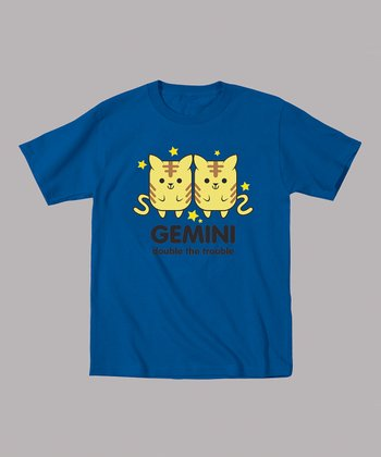 Royal Blue 'Gemini Double the Trouble' Tee - Toddler & Kids