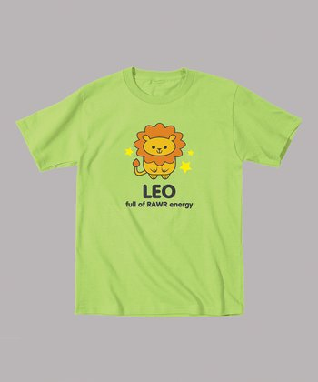Key Lime 'Leo Full of RAWR Energy' Tee - Toddler & Kids