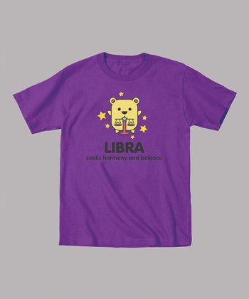 Purple 'Libra Seeks Harmony and Balance' Tee - Toddler & Kids