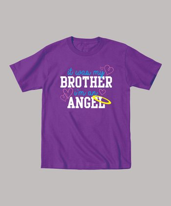 Purple 'I'm an Angel' Tee - Toddler & Kids