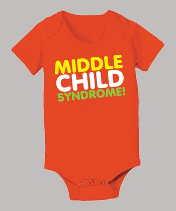 Orange 'Middle Child Syndrome' Bodysuit - Infant