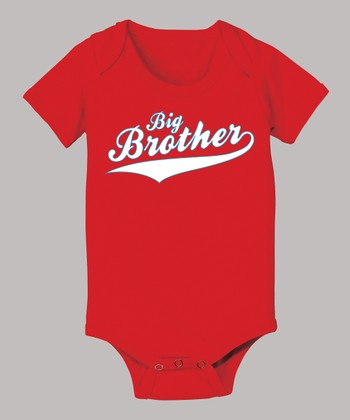 Red 'Big Brother' Bodysuit - Infant