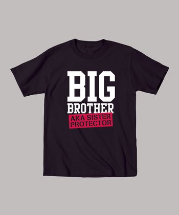 Black 'Sister Protector' Tee - Toddler & Boys