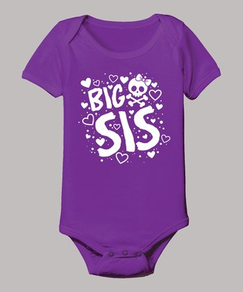 Purple 'Big Sis' Bodysuit - Infant