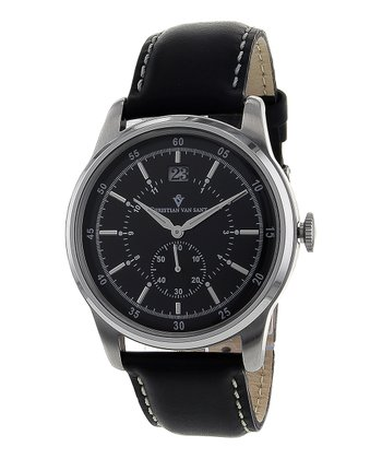 Black Big Date Watch