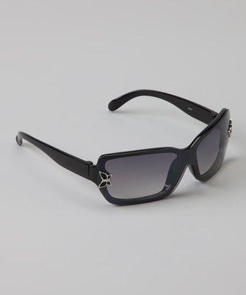 Golden Bridge International Black Butterfly Sunglasses