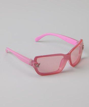 Golden Bridge International Pink Butterfly Sunglasses