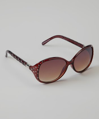 Golden Bridge International Brown Stud Sunglasses