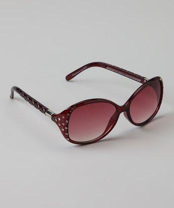Golden Bridge International Maroon Stud Sunglasses
