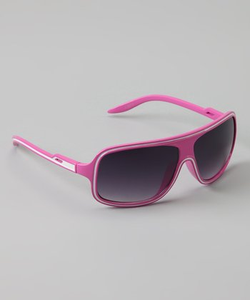 Golden Bridge International Pink Wrap Sunglasses