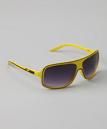 Golden Bridge International Yellow Wrap Sunglasses