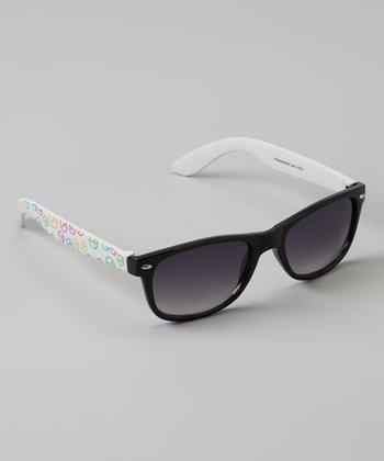 Golden Bridge International Black & White Peace Sunglasses