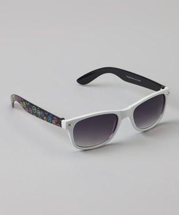 Golden Bridge International White Peace Sunglasses