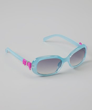 Light Blue & Pink Bow Sunglasses