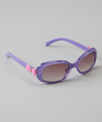 Purple & Pink Bow Sunglasses