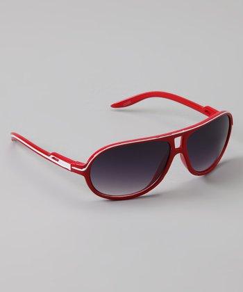 Golden Bridge International Red Stripe Sunglasses