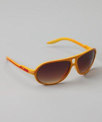 Golden Bridge International Yellow Stripe Sunglasses