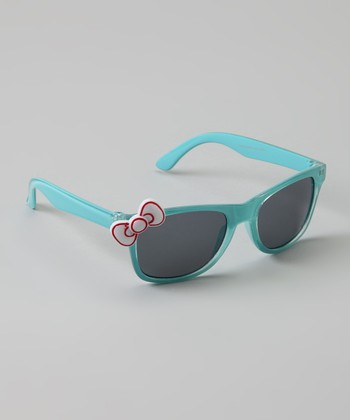Light Blue Bow Sunglasses