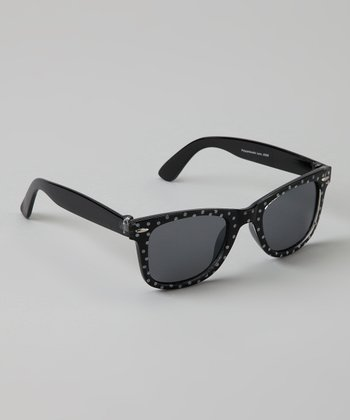 Black & White Polka Dot Sunglasses