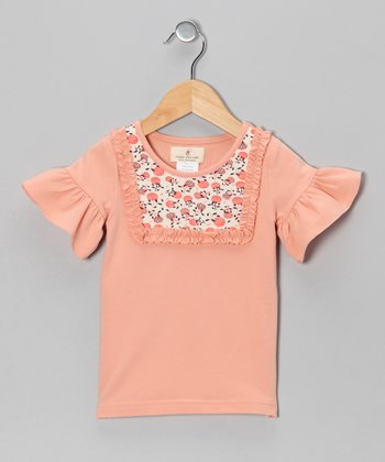 Coral Blossom Ruffle Top - Toddler & Girls