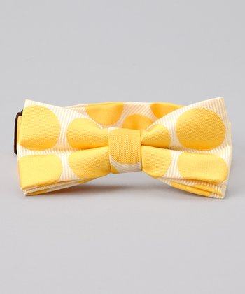 Yellow Polka Dot Bow Tie