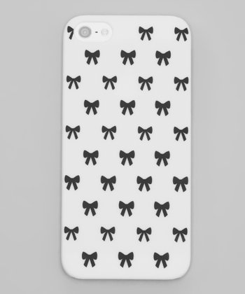 White & Black Bow Case for iPhone 5