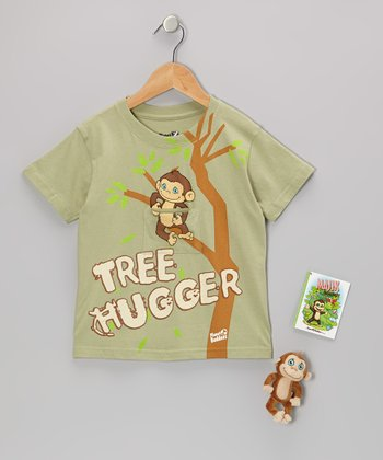 Green Majik Monkey Finger Puppet Tee Set - Toddler & Boys